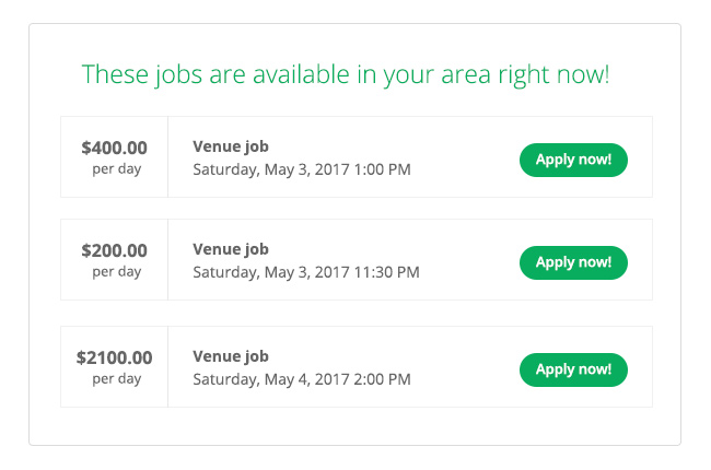 Local jobs in your area