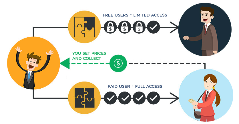 Paid users vs free users